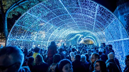 The tunnel of light congestion has annoyed Norwich shoppers. Picture: Matthew Usher.