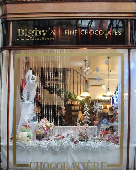 Digby's Chocolate Christmas Window 2016. Photo by Emily Revell