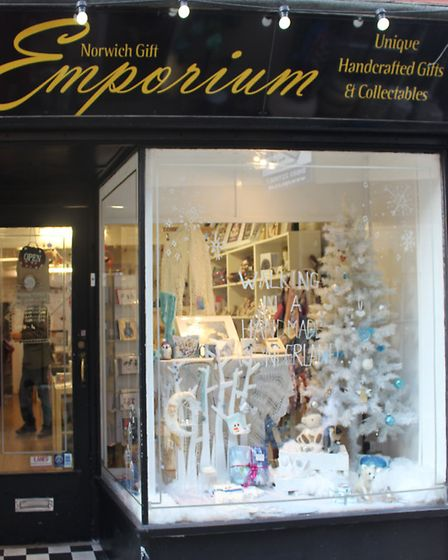 Norwich Gift Emporium Christmas Window 2016. Photo by Emily Revell