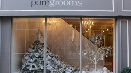 PureBrides/Grooms Christmas Window 2016. Photo by Emily Revell
