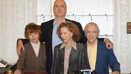 File photo dated 06/05/09 of Prunella Scales, John Cleese, Connie Booth and Andrew Sachs are seen pr