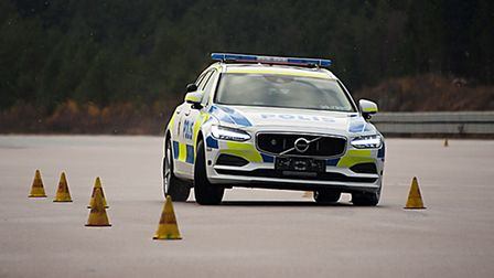 The Volvo V90 was praised after demanding police driving tests. Picture: Volvo
