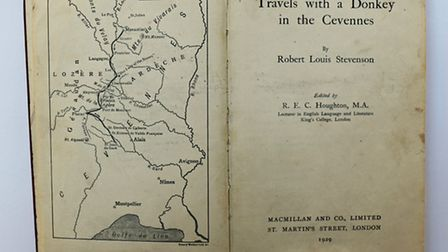 The title page from Travels with a Donkey in the Cévennes. Picture: ANDY NEWMAN