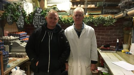 Brittne Centre market traders Sean Roden and Paul Denny (right) have been given eviction notices by
