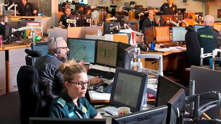 Call handlers in the ambulance service's Norwich emergency operations centre. Picture: East of Engla