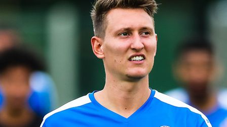 Christy Finch pictured after Leiston's 4-1 win over Grays in the Leiston v Grays Athletic (Emirates