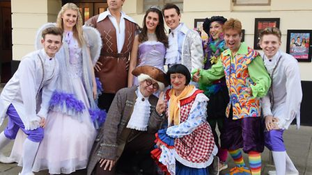 The cast of Beauty and the Beast panto at the Marina Theatre, Lowestoft. Picture: Denise Bradley