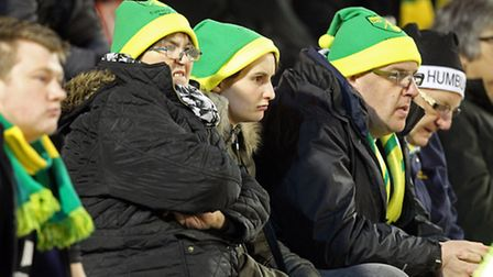 Norwich City fans endured a miserable trip to Barnsley. Picture by Paul Chesterton/Focus Images Ltd
