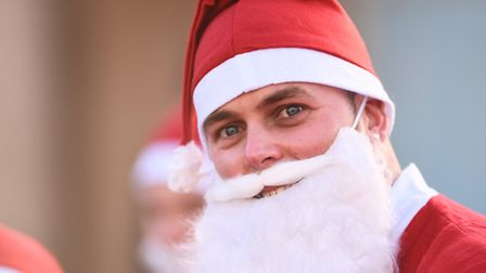 The Santa Run organised by East Anglia's Children's Hospices at Eaton Park, Norwich. Picture: Ian Bu