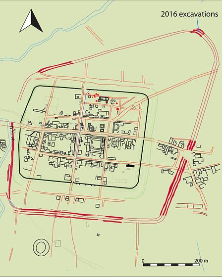 Ditches showed the Roman town extended further than previously thought.