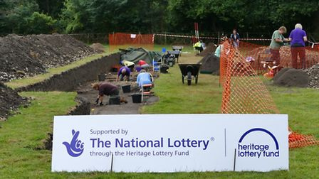 Excavations at the Caistor Roman town.