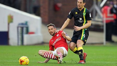 Reds' skipper and match-winner Conor Hourihane led from the front for Barnsley. Picture by Paul Ches