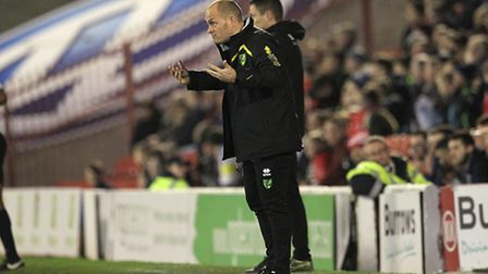 Norwich City manager Alex Neil knows the importance of Aston Villa's visit. Picture by Paul Chestert