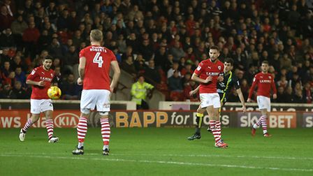 Nelson Oliveira thumped home Norwich City's goal in a 2-1 Championship defeat at Barnsley. Picture b