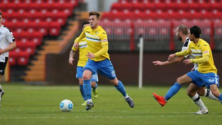 Lee Stevenson of King's Lynn Town FC during the first round FA Trophy match at Gateshead Internation