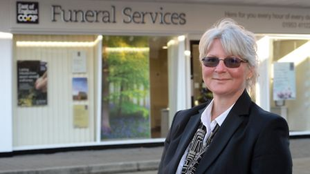 Sally Blundell, who manages the new East of England Co-op Funeral Service Branch for Attleborough. P
