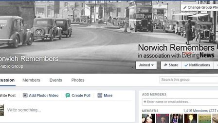 Norwich Remembers Facebook Group.