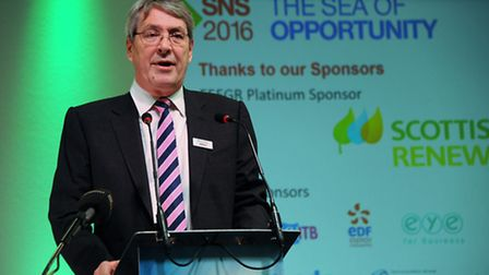 The SNS 2016 Offshore Energy conference at the Norfolk Showground. Simon Gray, chief executive EEEGR