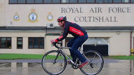 Neil Turner of Pedal Revolution at the former RAF Coltishall site where the new PedalPark is due to