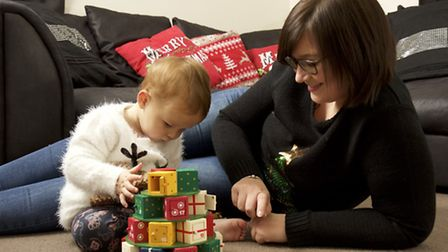 Emma Harris with 22 month old daughter Maddie Corbyn. Picture: Mark Bullimore