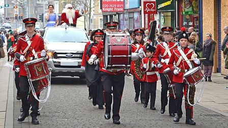 The fairytale parade in Lowestoft town centre on December 10, 2016. The Southwold and Reydon Corps o