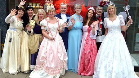 The fairytale parade in Lowestoft town centre on December 10, 2016. Staff from M&S in Lowestoft dres