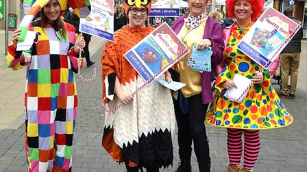 The fairytale parade in Lowestoft town centre on December 10, 2016. Staff from Suffolk Libraries in
