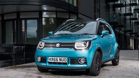 Front of Suzuki Ignis compact crossover is dominated by headlights and grille. Picture: Suzuki