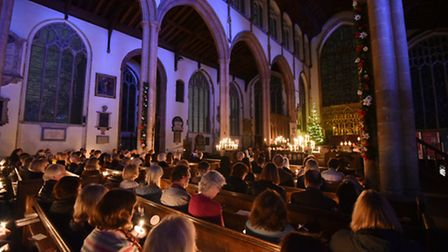 Evening News Carols for Christmas service at St Peter Mancroft Church, Norwich.December 2016.Picture