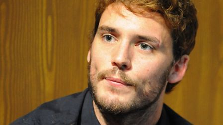 Film star Sam Claflin at Norwich Theatre Royal following a cameo in The Wind in the Willows. Picture