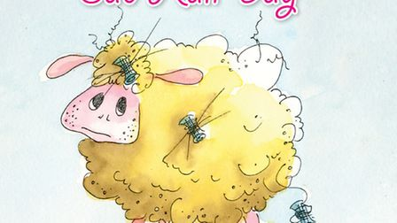 The front page of Curly Sheep's Bad Hair Day written by Hellesdon author and illustrator Sandra Derr