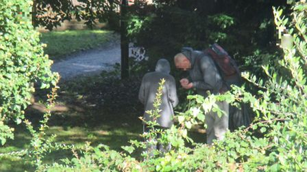 A drug deal taking place in Old Library Woods, off Rosary Road, on October 10.
