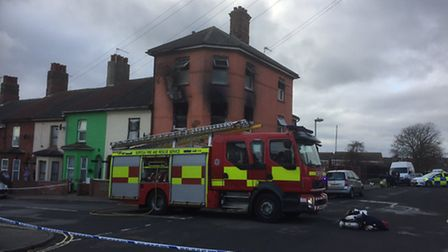 Firefighters were called to a fire in Roman Road, Lowestoft