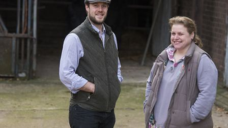 Bruce Paterson from Worsted Farms is starting Norfolk's first Wagyu beef herd, with Hayley Rushworth