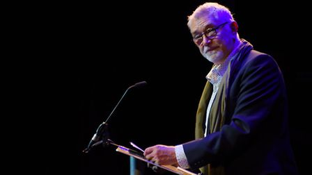 Actor Martin Shaw speaks about outgoing chief executive Peter Wilson at Peter's farewell during the