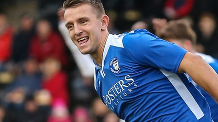 Jake Reed scored both goals for Lowestoft at Enfield. Picture: David Horn/Focus Images