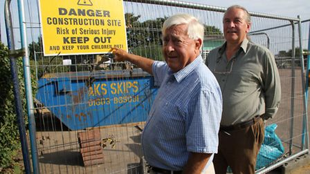North Lodge Park campaigners Chris Boddy and John Edwards welcomed the decision. Picture: ALLY McGIL