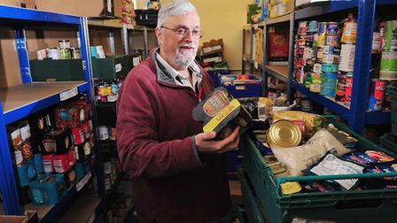 East Suffolk Foodbank project manager Phil Riley. Pictures: NICK BUTCHER