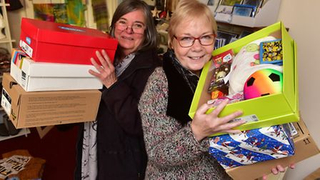 Bungay Labour group has supported the foodbank appeal in Waveney for Christmas. Sue Collins and Car
