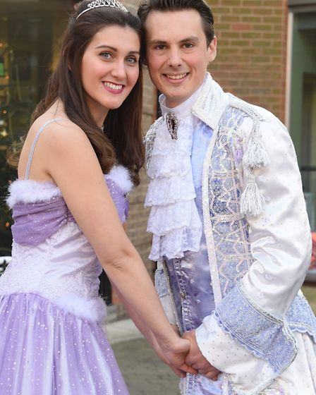 Belle, played by Rosie Hale, and Prince Francois/Beast, played by Matthew Wellman, in the Beauty and