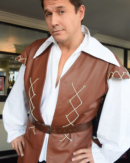 Jeremy Edwards plays Gaston in the Beauty and the Beast panto at the Marina Theatre, Lowestoft. Pict