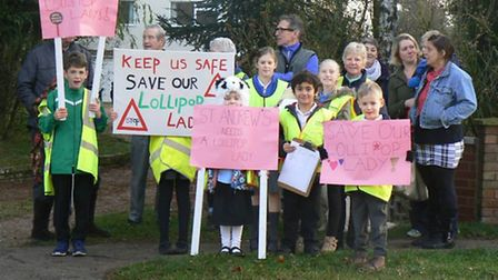 Campaigners from St Andrew's Primary School in North Lopham. Picture: Mel Mitchell.