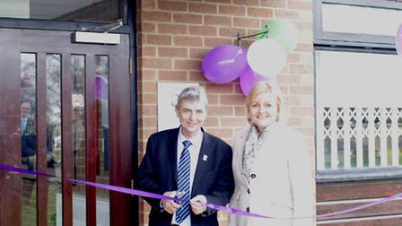Opening of new Inspire centre at QEH: Pictured are: Chief Executive Dorothy Hosein with Dave Prentis