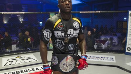 Jason Radcliffe won the Contenders middleweight title belt at Contenders Norwich 17. All photos: JER