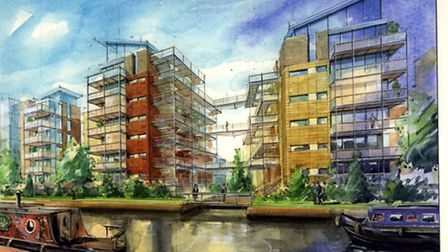 new development Riverside Heights at Carrow Road Norwich pic submitted