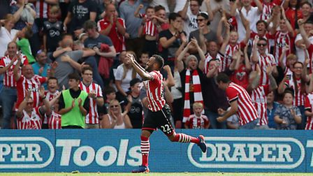 Southampton's Nathan Redmond celebrates scoring his sides first goal of the match during the Premier