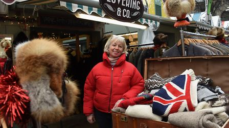 Heather Lovering's vintage stall at Norwich Market. Picture: DENISE BRADLEY