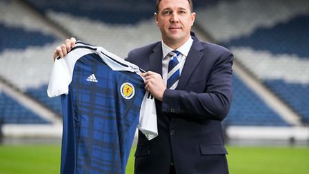 New performance director of the Scottish FA Malky Mackay after the press conference at Hampden Park,