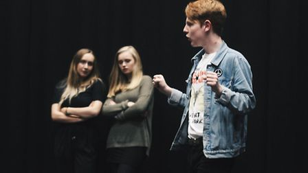 Kieran Crawford in Candide being staged by Norwich Theatre Royal Youth Company. Picture: Savanah Gra