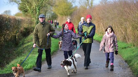 The village of Fressingfield plays host to their annual New Year's Day walk.